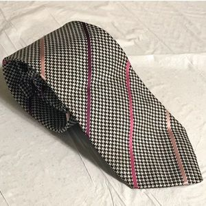Burberry London Striped Houndstooth Tie